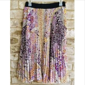 Lapis Womens SZ M Multicolor Purple Skirt Pleated